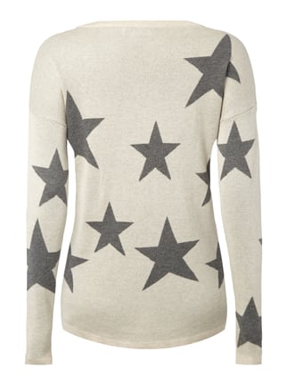 Only Pullover mit Sternenmuster Offwhite - 1