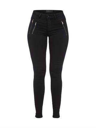 Second Skin Skinny Fit Jeans Grau / Schwarz - 1