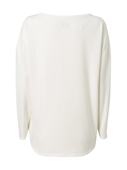 Only Shirt mit Message-Print in Metallicoptik Offwhite - 1