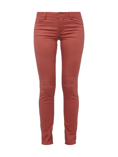 Skinny Fit 5-Pocket-Hose mit Stretch-Anteil Rot - 1