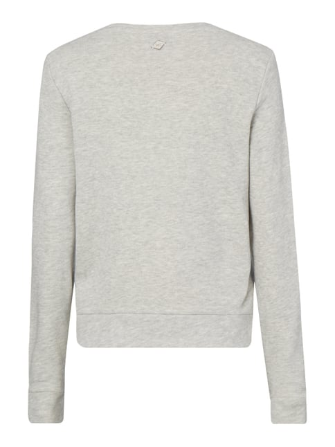 Only Sweatshirt mit Stickereien Hellgrau meliert - 1