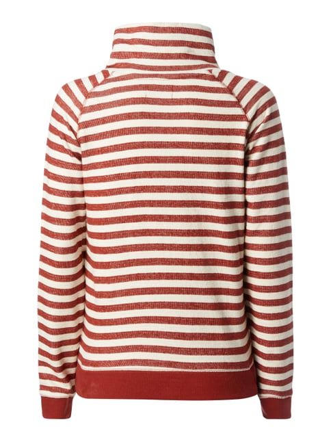 Only Sweatshirt mit Tube Collar - gestreift Weiß - 1