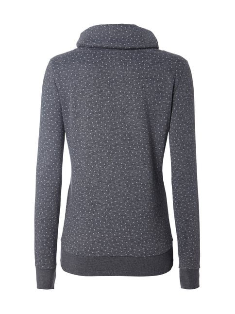 Only Sweatshirt mit Tube Collar in Wickeloptik Dunkelblau meliert - 1
