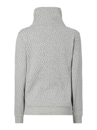 Only Sweatshirt mit Tube Collar in Wickeloptik Hellgrau meliert - 1