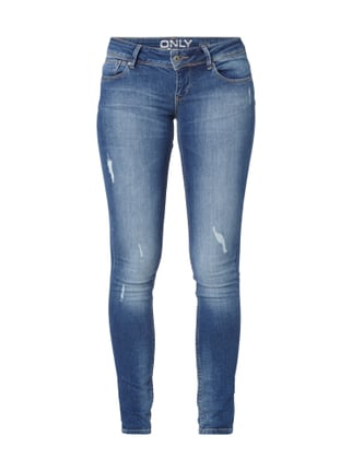 Used Look Skinny Fit 5-Pocket-Jeans Blau / Türkis - 1