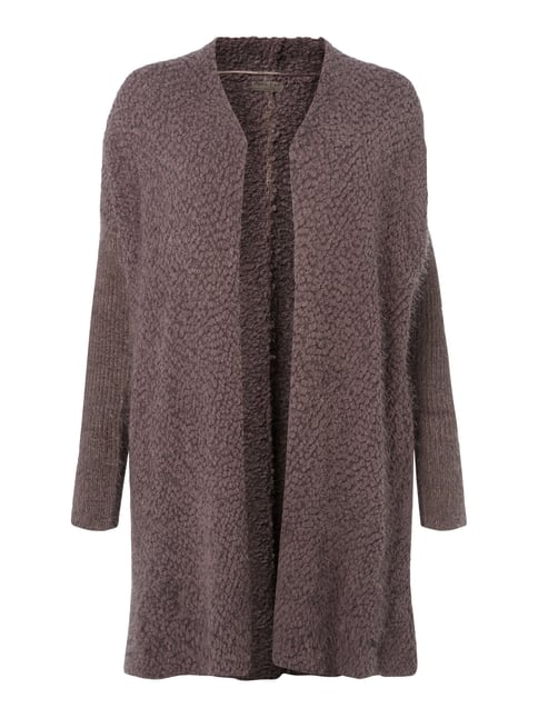 PLUS SIZE - Cardigan in Boucléoptik Braun - 1