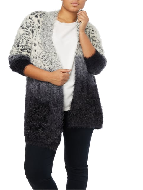 OPEN END PLUS SIZE - Cardigan mit Mustermix Offwhite - 1