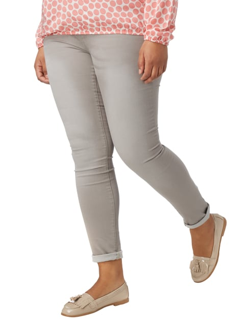 OPEN END PLUS SIZE - Stone Washed Jeans Hellgrau - 1