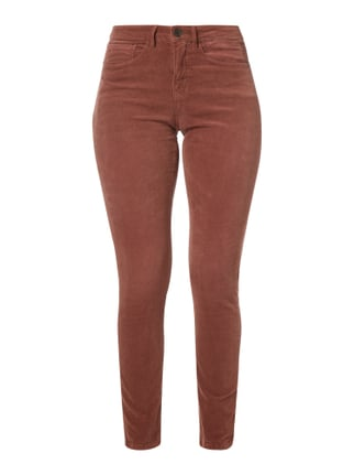 Ankle Cut Samthose mit Stretch-Anteil Rot - 1