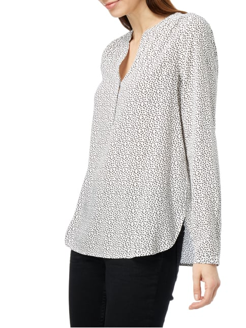 Opus Blusenshirt mit Allover-Muster Offwhite - 1
