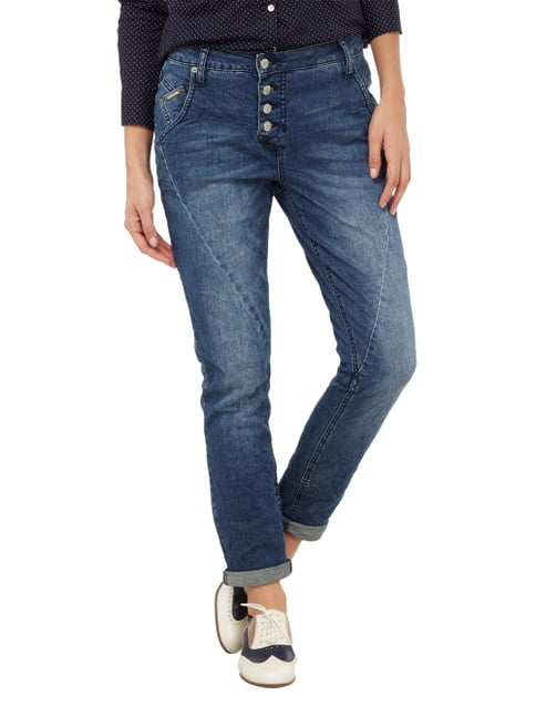 Opus Stone Washed Boyfriend Fit 5-Pocket-Jeans Jeans - 1