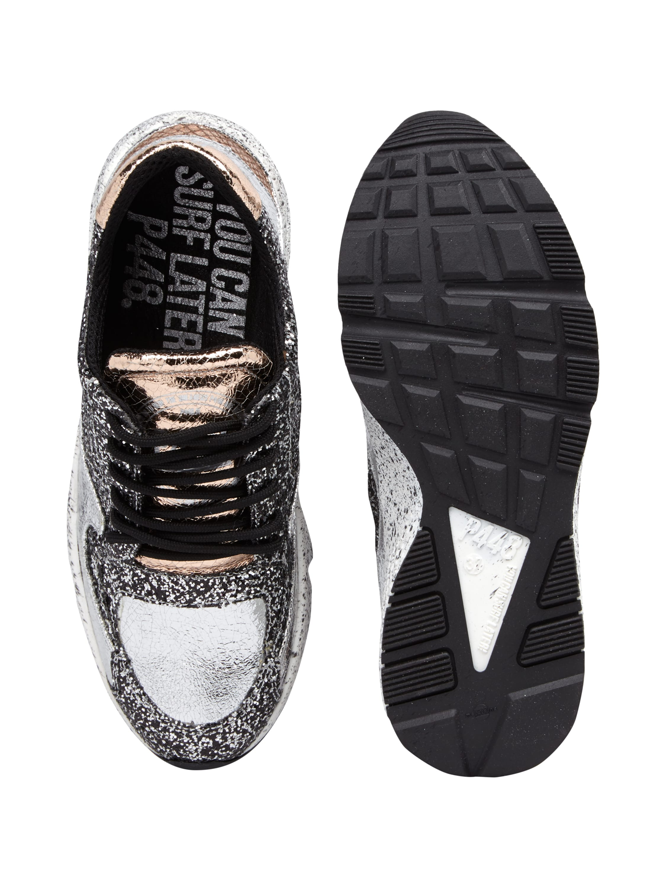 sneaker mit glitter effekt fashion id online shop. Black Bedroom Furniture Sets. Home Design Ideas