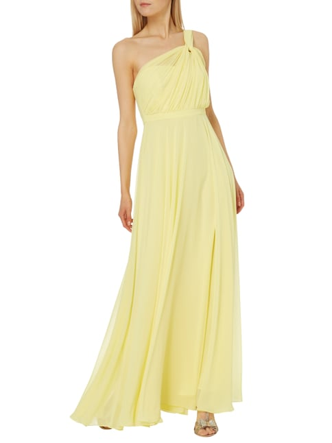 Paradi One-Shoulder-Abendkleid mit Knotendetail in Gelb - 1