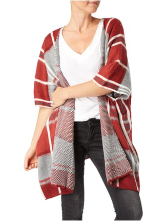 Pepe Jeans Cape mit Karomuster Rot - 1