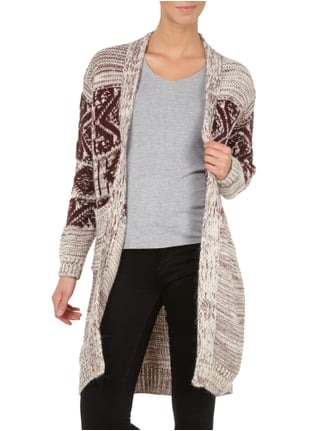 Pepe Jeans Cardigan mit Ethno-Muster Bordeaux Rot - 1