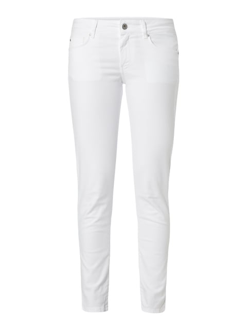 Coloured Regular Fit 5-Pocket-Jeans Weiß - 1