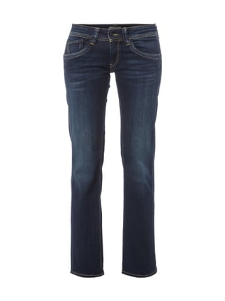 Comfort Fit Jeans im Stone Washed-Look Blau / Türkis - 1