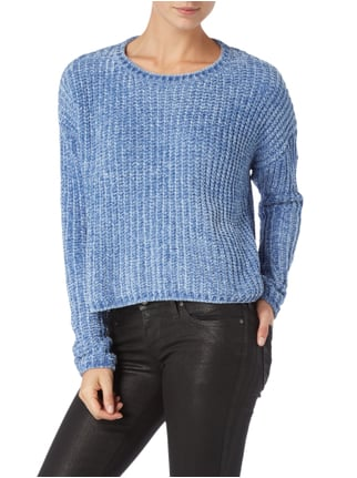 Pepe Jeans Cropped Vokuhila Pullover Hellblau - 1