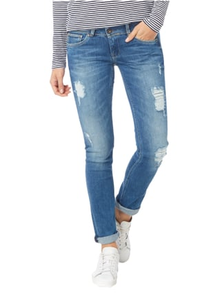 Pepe Jeans Destroyed Slim Fit Jeans mit Stretch-Anteil Jeans - 1
