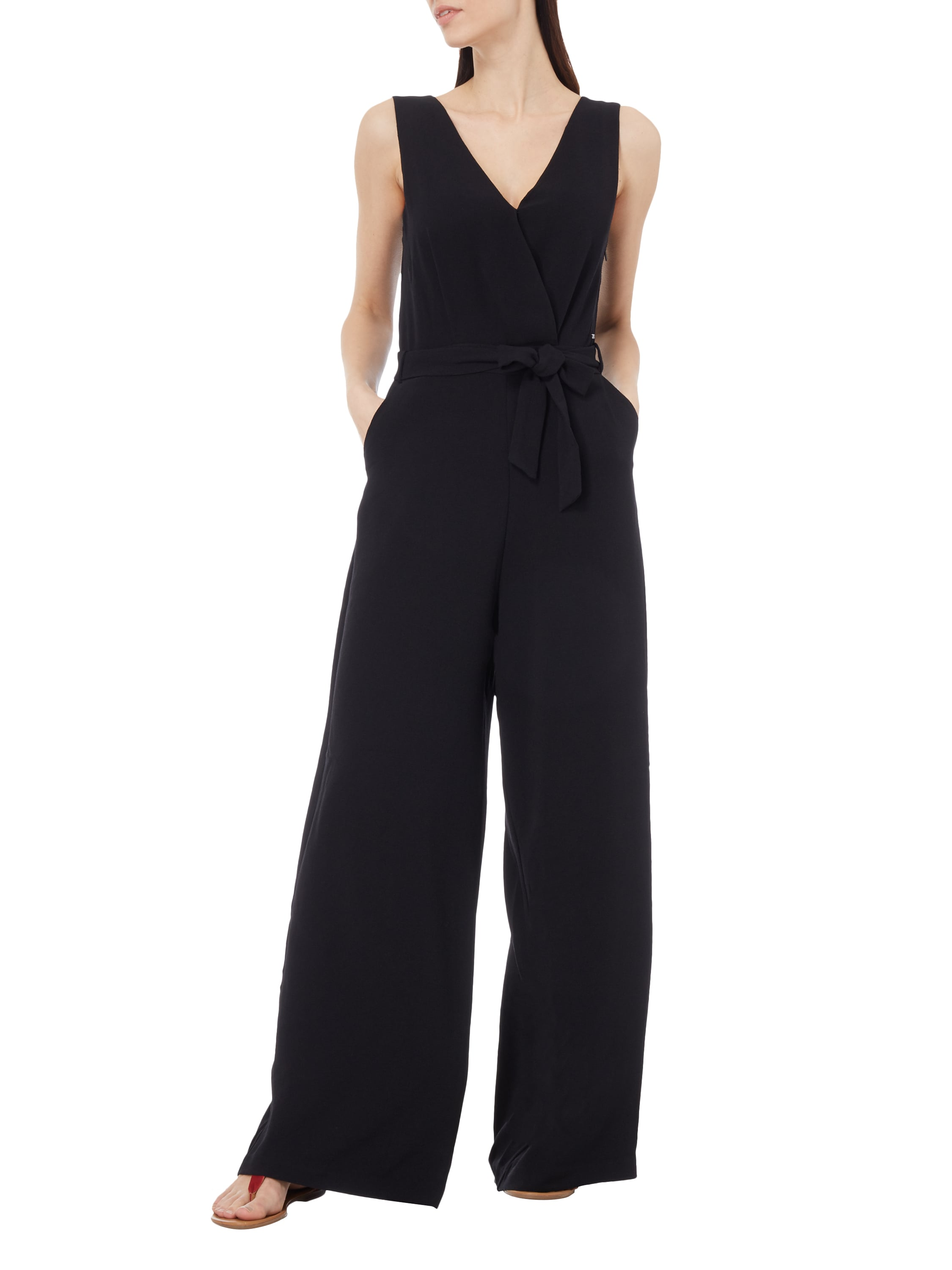 pepe jeans jumpsuit mit weitem bein in grau schwarz online kaufen 9605591 p c online shop. Black Bedroom Furniture Sets. Home Design Ideas