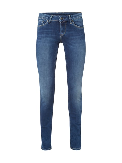 Slim Fit 5-Pocket-Jeans im Stone Washed Look Blau / Türkis - 1