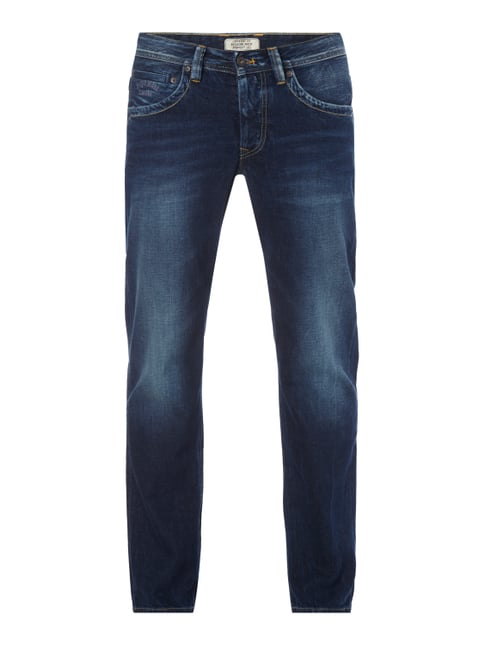 Stone Washed Comfort Fit 5-Pocket-Jeans Blau / Türkis - 1