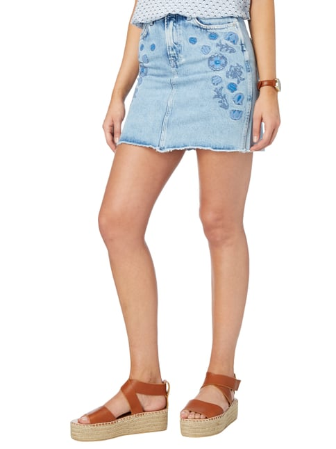 Pepe Jeans Stone Washed Jeansrock mit floralen Stickereien Jeans - 1