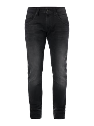 Stone Washed Regular Fit 5-Pocket-Jeans Grau / Schwarz - 1