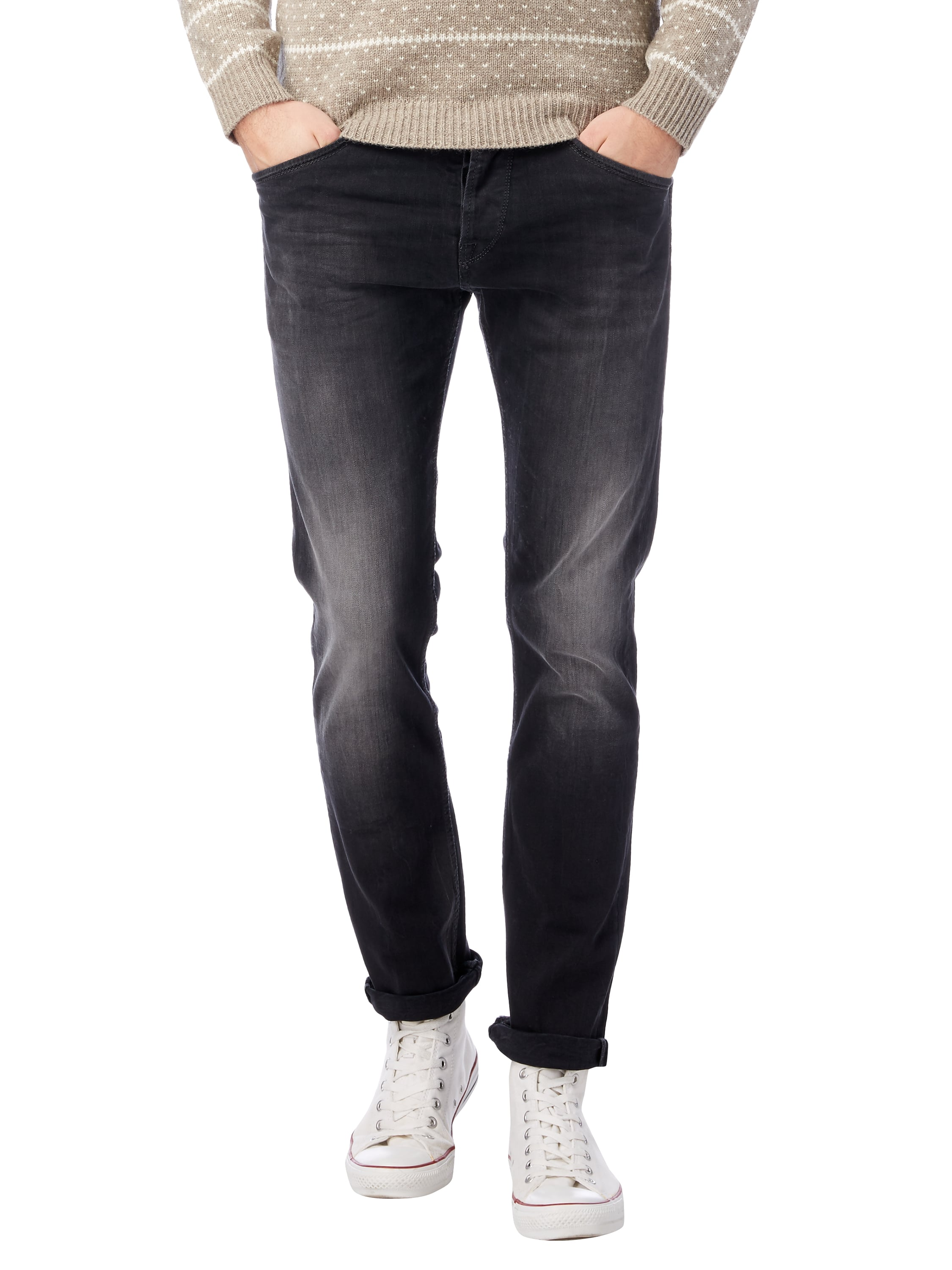 pepe jeans stone washed slim fit jeans mit knopfleiste in. Black Bedroom Furniture Sets. Home Design Ideas