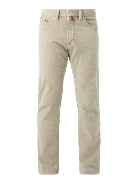 Regular Fit Cordhose im 5-Pocket-Design Weiß - 1