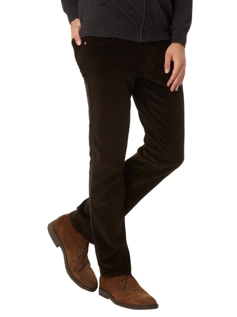Pierre Cardin Regular Fit Cordhose mit Stretch-Anteil Dunkelbraun - 1