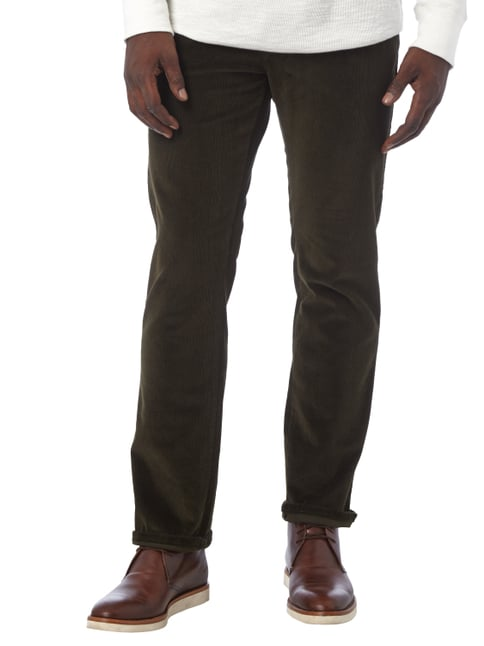 Pierre Cardin Regular Fit Cordhose mit Stretch-Anteil Grün - 1