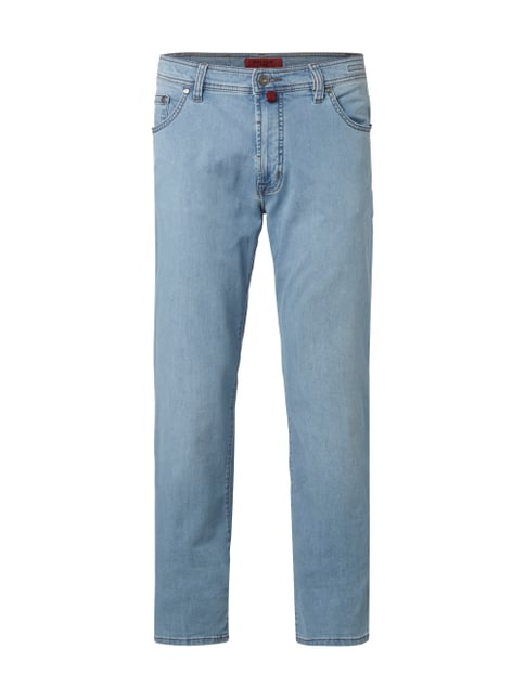 Regular Fit Stone Washed Jeans Blau / Türkis - 1