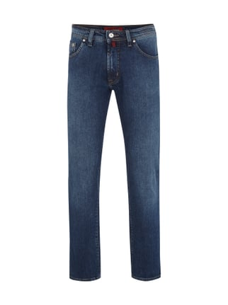 Stone Washed 5-Pocket-Jeans im Straight Fit Blau / Türkis - 1