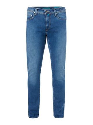 Stone Washed Tapered Fit 5-Pocket-Jeans Blau / Türkis - 1