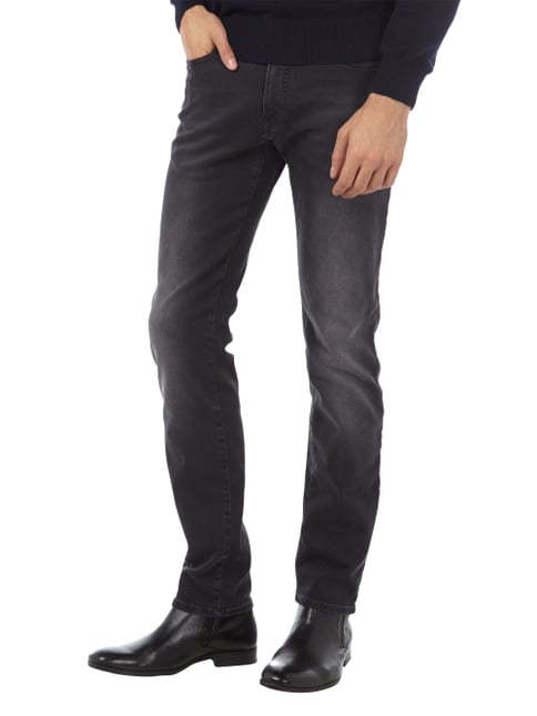 Pierre Cardin Stone Washed Tapered Fit Jeans Graphit - 1
