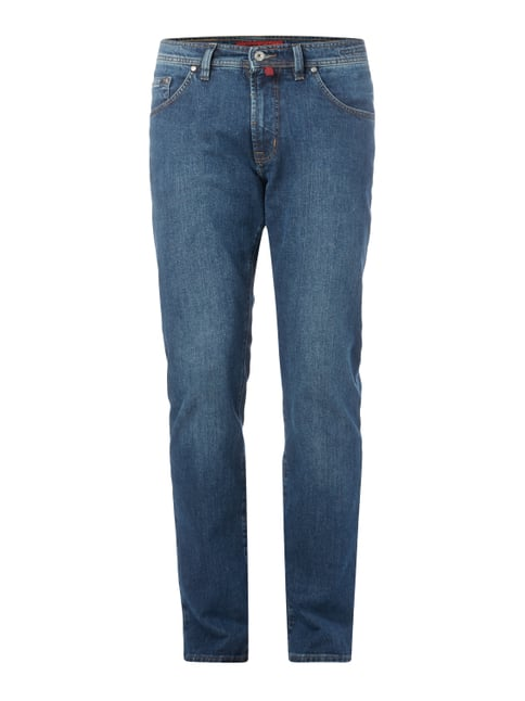 Straight Fit Jeans mit Stretch-Anteil Blau / Türkis - 1