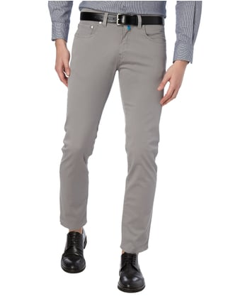 Pierre Cardin Tapered Fit 5-Pocket-Hose mit Stretch-Anteil Mittelgrau meliert - 1