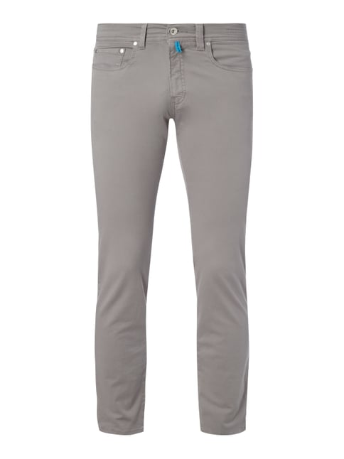 Tapered Fit 5-Pocket-Hose mit Stretch-Anteil Grau / Schwarz - 1