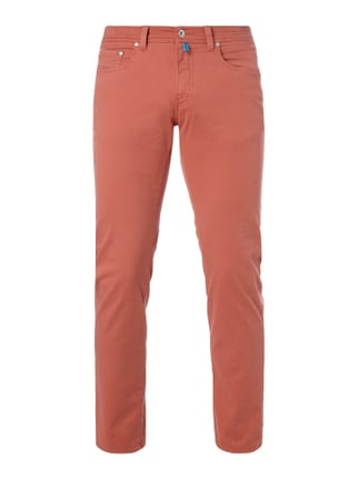 Tapered Fit 5-Pocket-Hose mit Stretch-Anteil Rot - 1