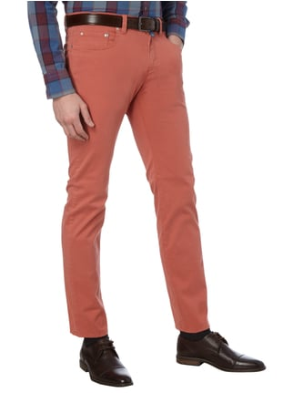 Pierre Cardin Tapered Fit 5-Pocket-Hose mit Stretch-Anteil Rot - 1