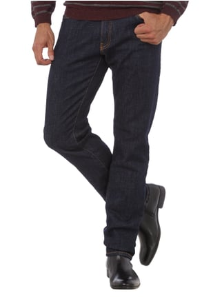 Pierre Cardin Tapered Fit Jeans im One Washed Look Dunkelblau - 1