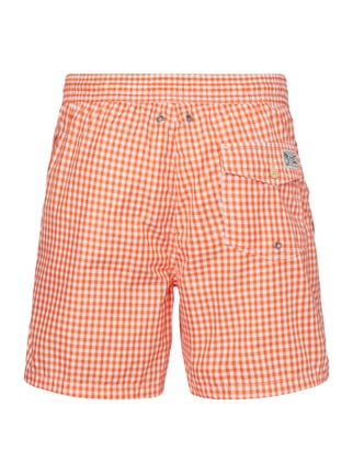 Polo Ralph Lauren Badeshorts mit Vichy Karo Orange - 1
