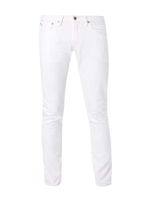 Coloured Slim Fit Jeans aus Baumwolle Weiß - 1