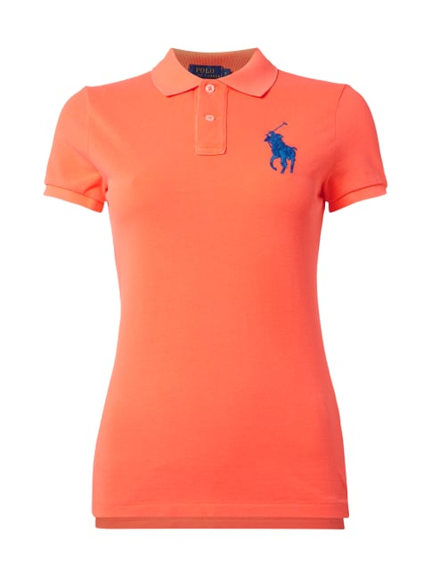 Poloshirt mit Logo-Stickerei Orange - 1