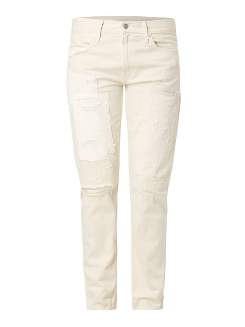 Slim Boyfriend Fit Jeans im Destroyed Look Weiß - 1