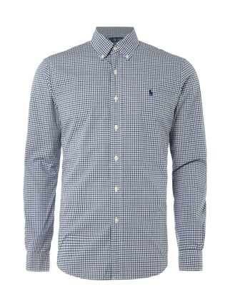 Slim Fit Hemd mit Button-Down-Kragen Grün - 1