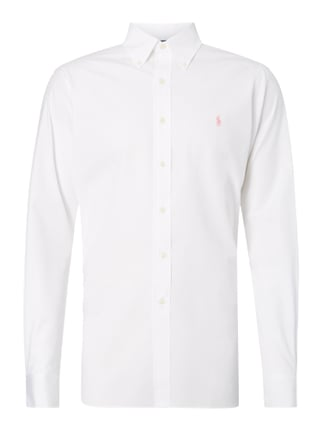 Slim Fit Hemd mit Logo-Stickerei Rosé - 1