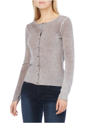 Princess Goes Hollywood Cardigan mit Rundhalsausschnitt Taupe - 1