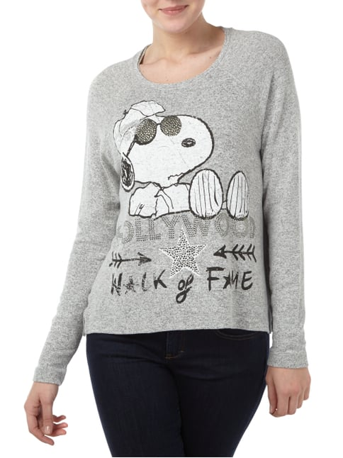 Princess Goes Hollywood Pullover mit Snoopy-Print Hellgrau - 1